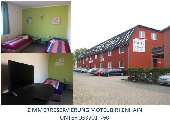 Zimmerreservierung Motel Birkenhain